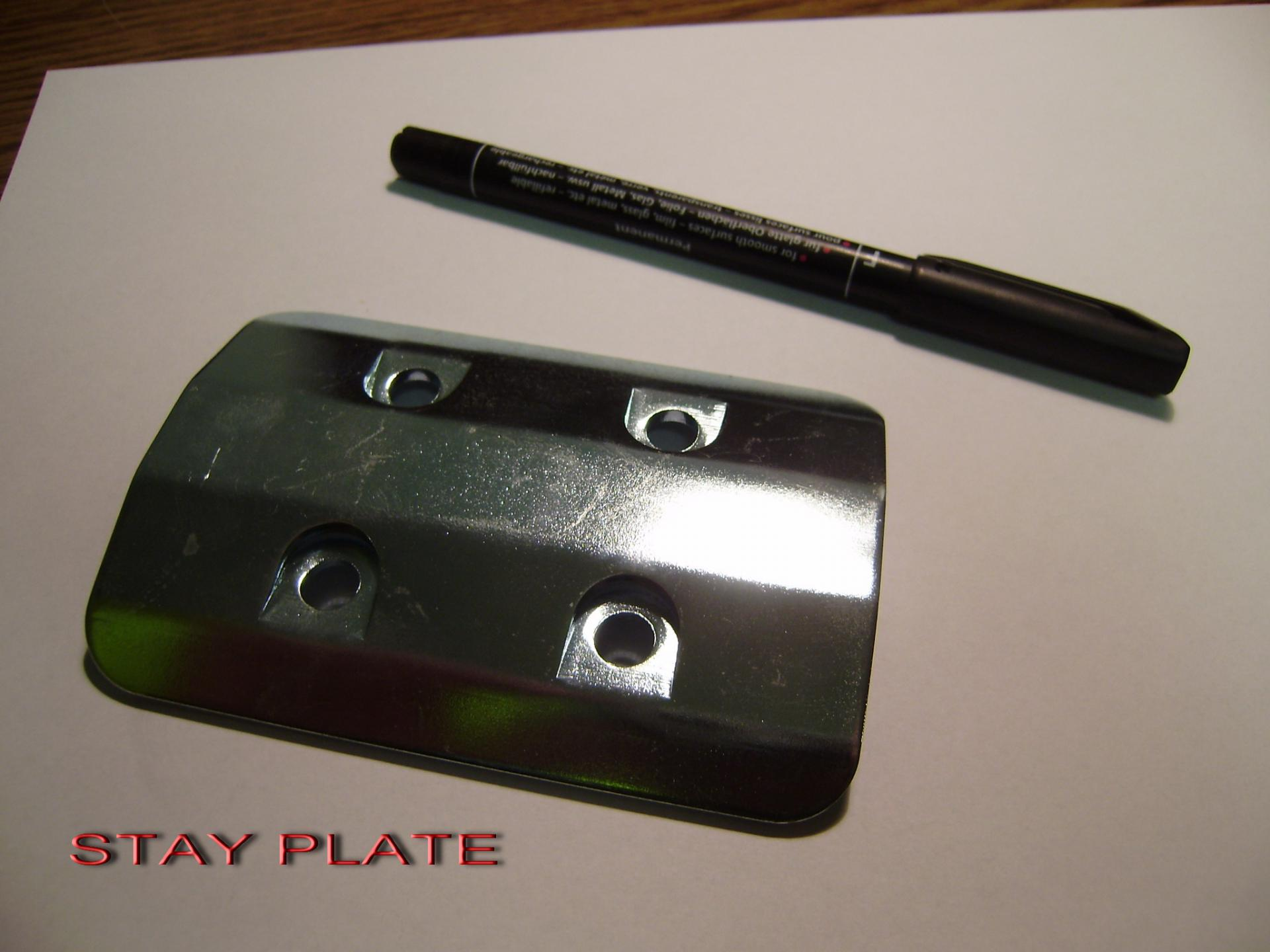 Stay plate
