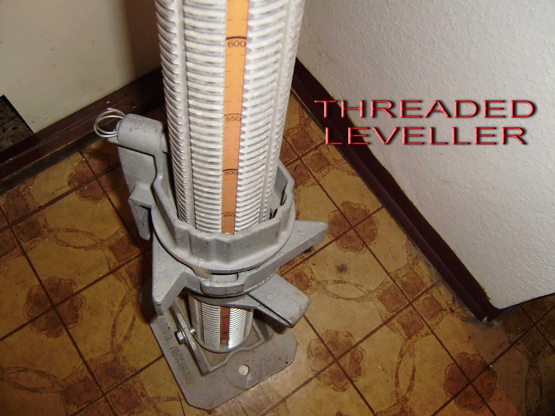 Threaded leveller