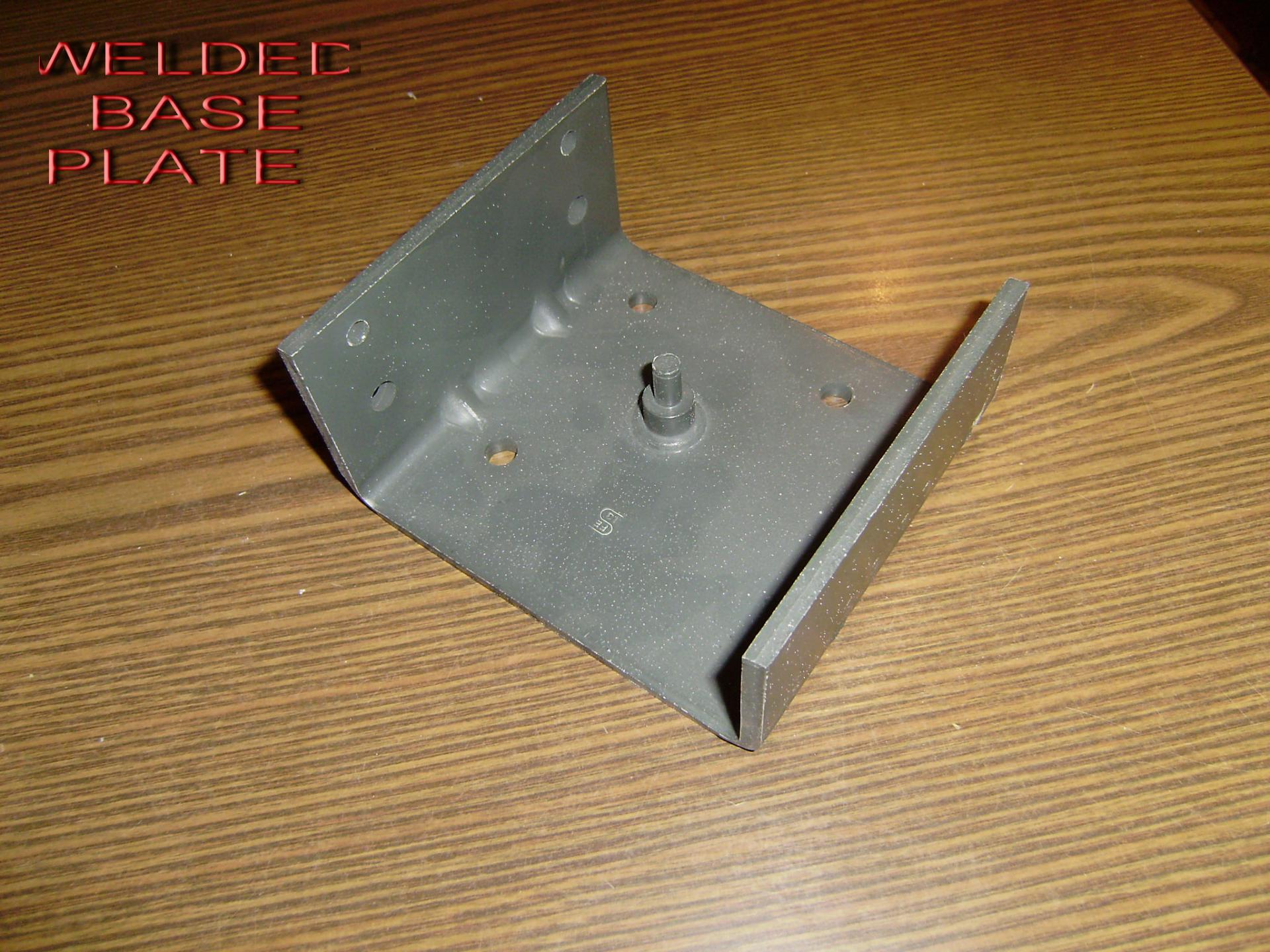 Welded stayplate